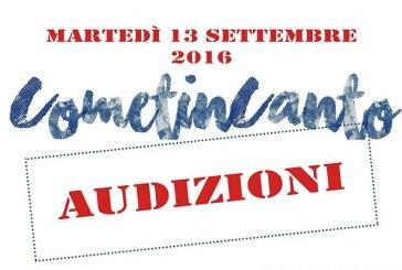 CometinCanto – Audizioni 13 settembre 2016
