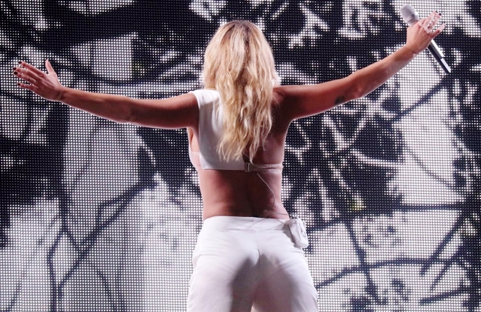 Emma Marrone performs in concert at Milan Forum Arena
